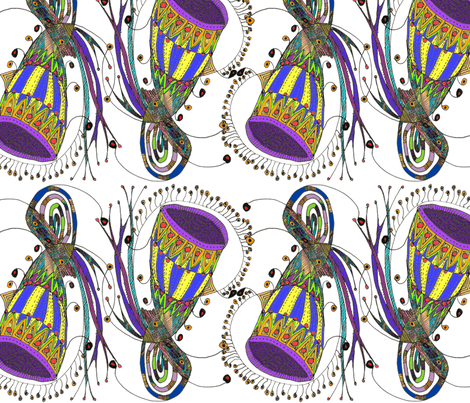 Wiccked Jester Hats fabric by wiccked on Spoonflower - custom fabric