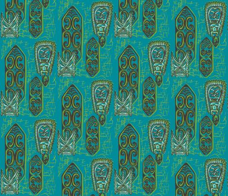 Nu ku Gu Blu fabric by sophista-tiki_by_dawn_frasier on Spoonflower - custom fabric