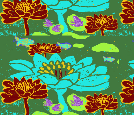 Lily Pond fabric by bad_penny on Spoonflower - custom fabric