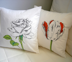 Botanical Pillows and Bonus Fabric