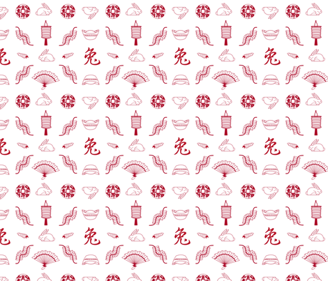 CNY Motif version 1 fabric by ninjacrepes on Spoonflower - custom fabric