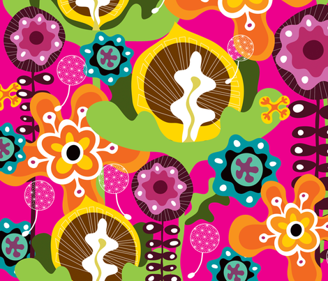 Bloom 2 fabric by thepatternsocial on Spoonflower - custom fabric