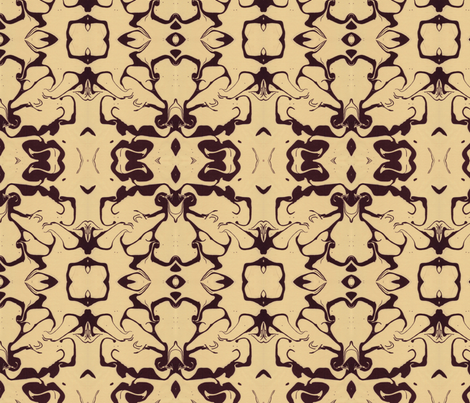Retro Marbled Design in Yellow and Brown fabric by katehasteddesigns on Spoonflower - custom fabric