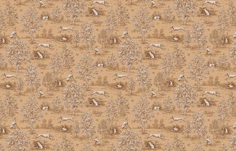 Brown Reverse Greyhound Toile ©2010 by Jane Walker fabric by artbyjanewalker on Spoonflower - custom fabric