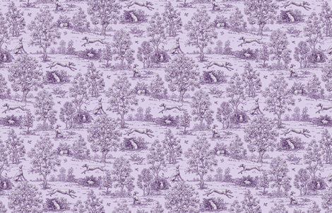 Purple  Reverse Greyhound Toile ©2010 by Jane Walker fabric by artbyjanewalker on Spoonflower - custom fabric