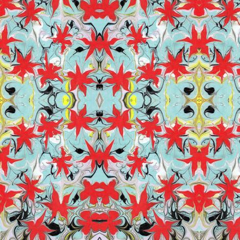 Marbled Floral Print fabric by katehasteddesigns on Spoonflower - custom fabric