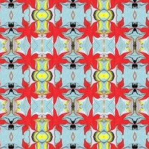 Vintage-look Marbled Floral