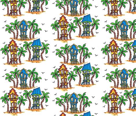 Beach House Fun fabric by joycemj on Spoonflower - custom fabric