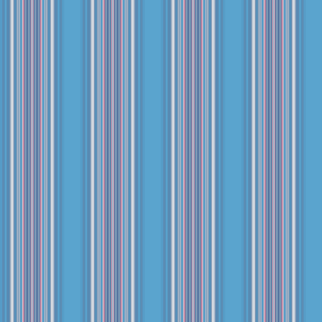 Blue Pink and White Stripe © 2009 Gingezel Inc. fabric by gingezel on Spoonflower - custom fabric