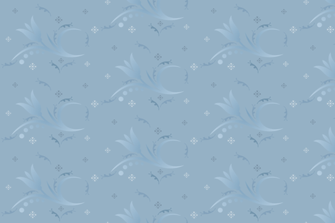 Tulip Mist in Blue Small © 2009 Gingezel Inc. fabric by gingezel on Spoonflower - custom fabric