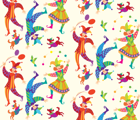 jesters_n_fools fabric by janiris on Spoonflower - custom fabric