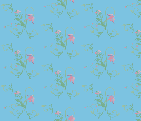 Cottage Garden Floral © 2011 Gingezel™ Inc. fabric by gingezel on Spoonflower - custom fabric