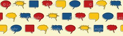 Comic Speech Bubbles (Hero colorway)