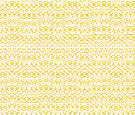 Mod Peacock in Yellow fabric by katphillipsdesigns on Spoonflower - custom fabric