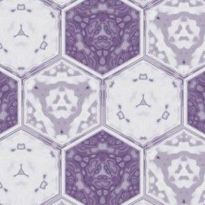Hexagonal Tile Geometric in crocus purple, small