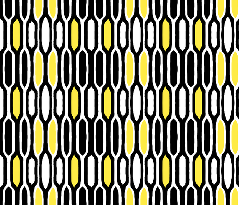 Black and Yellow abstract fabric by cricketnoel on Spoonflower - custom fabric