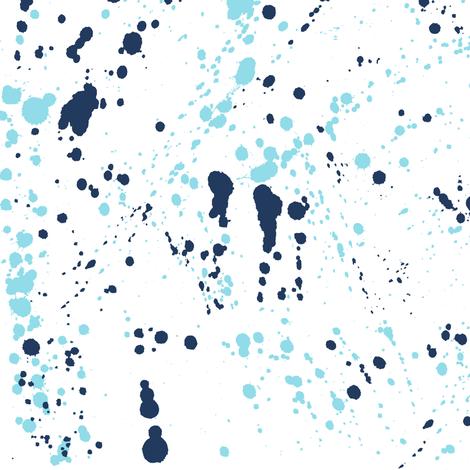 Pantone Blue Ink Splatter fabric by pond_ripple on Spoonflower - custom fabric