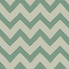 chevron - gray & laurel green
