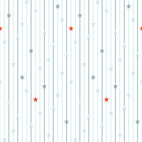ABC Baby Coordinate - Star Stripe, White fabric by ttoz on Spoonflower - custom fabric