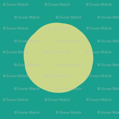 Lime Dots on Greens, half-brick