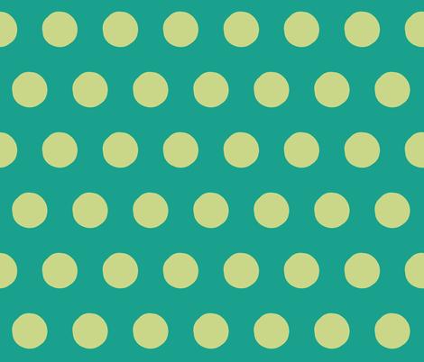 Lime Dots on Greens, half-brick fabric by susaninparis on Spoonflower - custom fabric