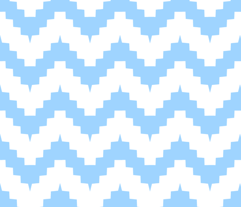 chevron white and blue - large fabric by ravynka on Spoonflower - custom fabric