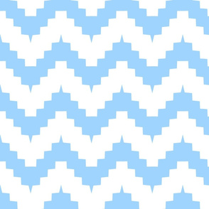chevron white and blue - large