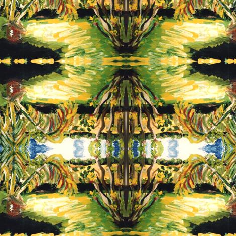 Abidjan Backyard - scarf version fabric by susaninparis on Spoonflower - custom fabric