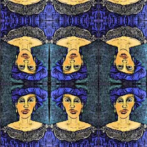 Lady of Goree Island, Senegal fabric by susaninparis on Spoonflower - custom fabric