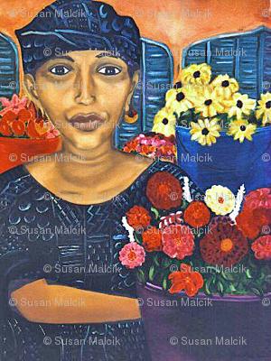 Flower Seller, Dakar, Senegal, scarf version