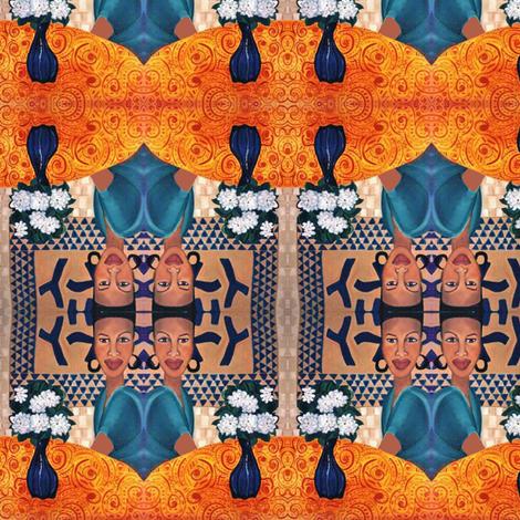 Gardenias, scarf version fabric by susaninparis on Spoonflower - custom fabric
