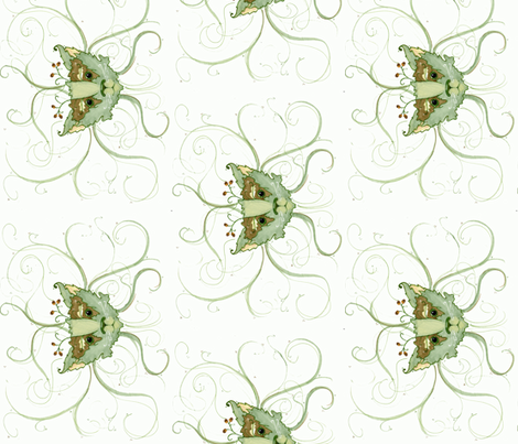 The Green Man's Pet fabric by jencarson on Spoonflower - custom fabric