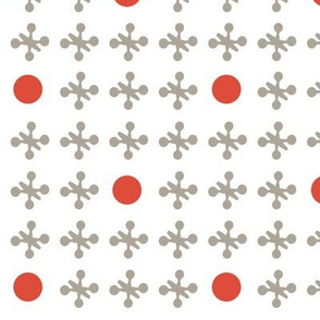 Game of Jacks - in Grey and Red