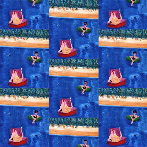 Morning Swim  fabric by susaninparis on Spoonflower - custom fabric