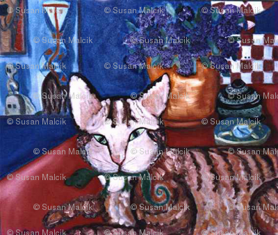 Still Life with Sparky, mirrored version