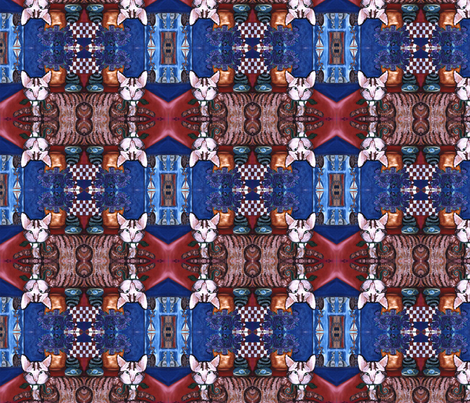Still Life with Sparky, mirrored version fabric by susaninparis on Spoonflower - custom fabric