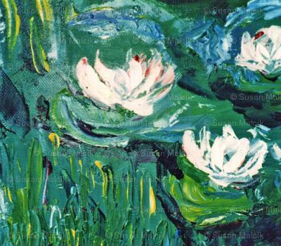 Waterlilies after Monet - scarf version