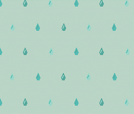 Rain Dots Seafoam fabric by modgeek on Spoonflower - custom fabric