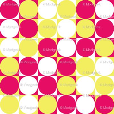 Circles & Squares Pink