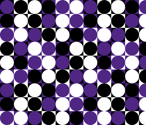 Circles & Squares Purple fabric by modgeek on Spoonflower - custom fabric