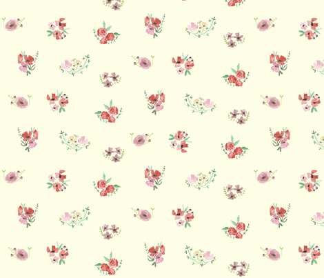 vita- on cream fabric by tinyhappy on Spoonflower - custom fabric