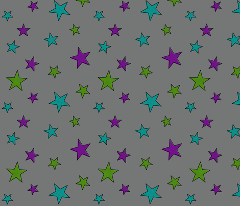 Comic Stars (Villain colorway) fabric by leighr on Spoonflower - custom fabric