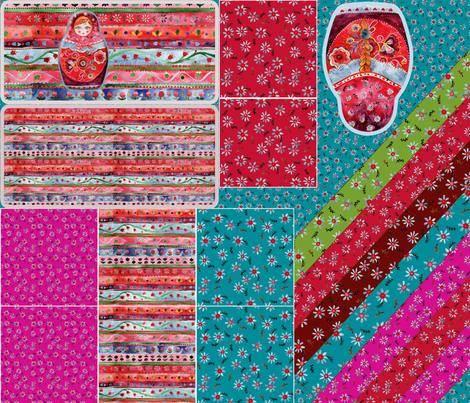 kit_accésoire_sac_poupée_russe fabric by nadja_petremand on Spoonflower - custom fabric
