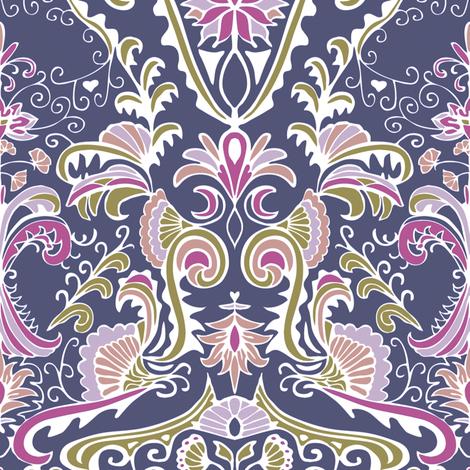 Organic Damask fabric by kezia on Spoonflower - custom fabric
