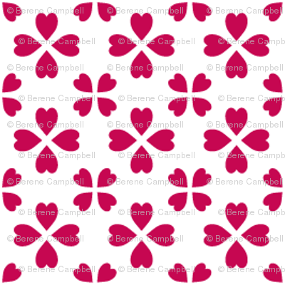 Li'l hearts (red on white)