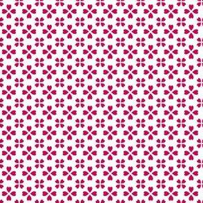 Li'l hearts (red on white)