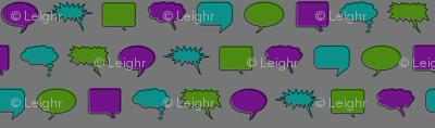 Comic Speech Bubbles (Villain colorway)