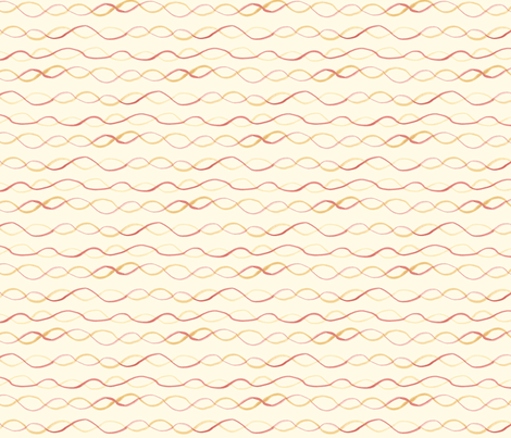 virginia- on cream fabric by tinyhappy on Spoonflower - custom fabric