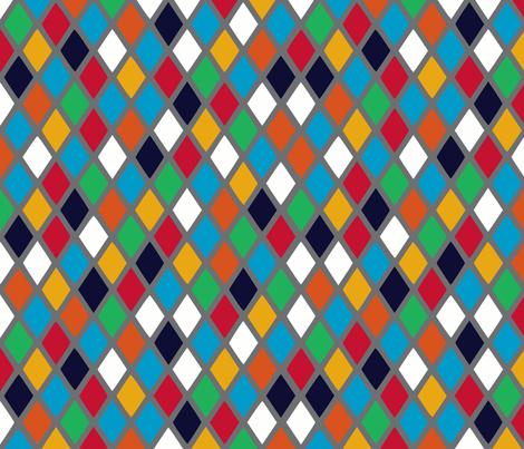 Commedia dell'arte fabric by shirayukin on Spoonflower - custom fabric