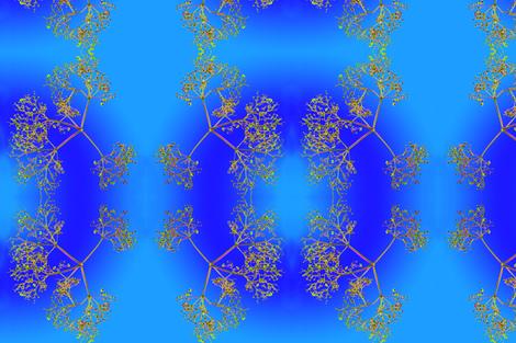 Fluitekruid-blue fabric by el_isa_beth_ on Spoonflower - custom fabric